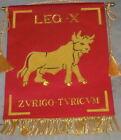Roman Army Caesar War Battle Legion X Banner Flag SPQR Rome Eagle Empire X V I ZReenactment & Reproductions - 156374