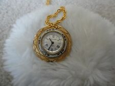 Wind Up Necklace Pendant Watch Vintage North Star 17 Jewels Incabloc