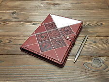 Leather Travel Diary Blank Pages Writing Pad Top-Grain Leather Boss Gift