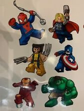 6 x Marvel Lego Super Heroes Bedroom wall toy box stickers Vinyl Childrens