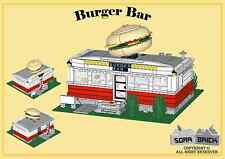 Custom instruction, consisting of LEGO elements - Burger Bar