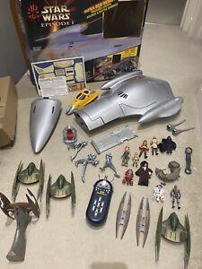 Naboo Royal Starship Star Wars Episode 1 Vehicle Hasbro 1999 + Extras