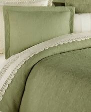 SAGE GREEN Twin, Full Queen, King QUILT or Sham - 100% COTTON MATELASSE COVERLET