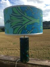 RARE Blue Colourway SHATTERLINE Vintage 1960/70s Table Lamp In VGC. Ref.990