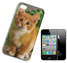 HOUSSE COUVERTURE FLIP COMPATIBLE POUR IPHONE 4 CHAT CHATON CHIOT ORANGE