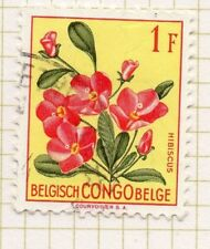 Belgian Congo 1952 Flowers Early Issue Fine Used Value 1F. 248232