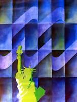 TRAVEL NEW YORK AMERICA USA LIBERTY STATUE FINE ART PRINT POSTER 30x40cm CC1984