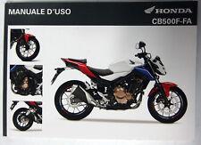 Manual de Usuario Manuale D'Uso Honda CB500F-FA 00X3L-MJW-K000