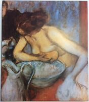 La Toilette Woman Bathing Edgar Degas Art Print On Board FoundArtShop.com