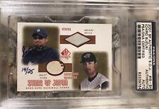 2001 SP Authentic Ichiro Suzuki Autograph GOLD Jersey Rookie /25 PSA 💎