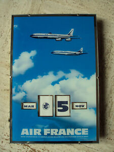 CALENDRIER PERPETUEL AIR FRANCE GERRER 1964 CARAVELLE BOEING