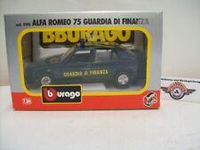 """Alfa Romeo 75 """"GUARDIA di FINANZA """" #11, 1985, blue, Bburago 1:24 (Italy), OVP"""