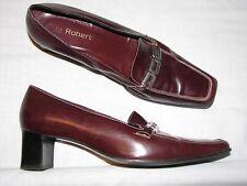 8.5 9 40 Lavorazione Artigiana 40 Italy Loafers Ladies Shoes Brown Leather Women