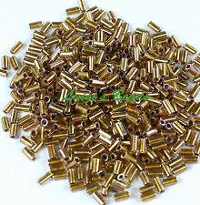 Gold-Lined Rainbow Crystal #994-TOHO Bugle Glass Seed Beads 3mm Sz 1