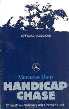 MERCEDES-BENZ HANDICAP CHASE AT CHEPSTOW 3 Oct 1992 HORSE RACING RACE CARD