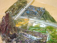 """4"""" Baby Hog Brush Hog Style Mix and Match Assortment 50 count bag bass worm"""