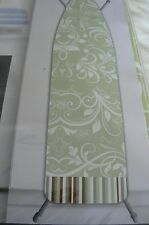 WESTEX  DELUXE EXTRA THICK IRONING BOARD COVER-PAD GREEN WHITE NIP
