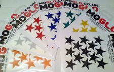 Reflective STAR stickers x 13  *7 colours available *