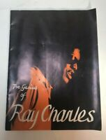 1962 The Genius of Ray Charles Orchestra Raelets Concert Tour Program Book Vtg