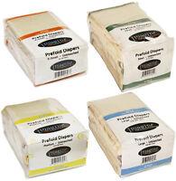 Imagine 6 Pack Unbleached Indian Cotton Smart Fit Prefold Cloth Diapers - 868816