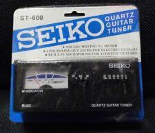 New! Vintage Seiko Quartz Guitar Tuner #St-600