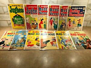 Vintage Archie Comics lot  - Jughead, Betty and Veronica, Mad House 10 & 12 cent