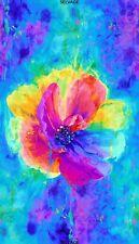 Timeless Treasures Chong-a Hwang Digitally Printed Anemone Flower Fabric Panel