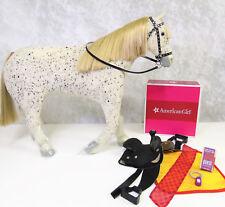 American Girl Doll SAIGE'S HORSE PICASSO & PARADE SADDLE SET Bridle Halter Box