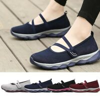 Women's Comfy Breathable Walking Shoes Slip On Mary Jane Sneakers Lightweight AU