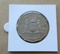 AUSTRALIAN  2001 CENTENARY OF FEDERATION...WESTERN AUSTRALIA...50 CENT COIN.