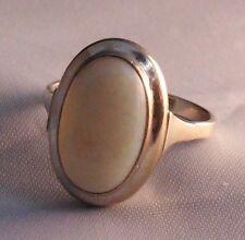 Weißgold Ring Solitär Opal Milchopal Edelopal 585 Gold