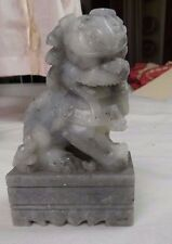 CHINESE CARVED SOAPSTONE FOO DOG