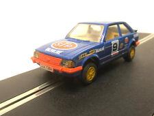 Scalextric C460 Ford Escort XR3i STP Blue Orange Vintage Slot Car