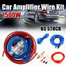 1500W Car SoundBox 8Ga Gauge AWG Amplifier Install Wiring Kit Amp Install Cables