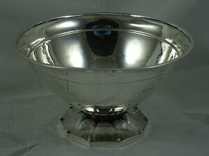 RARE, GEORG JENSEN, sterling silver ROSE BOWL, 1925, 228gm
