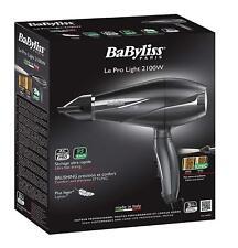 BaByliss Le Pro Light 6609E Secador de Pelo iónico más Ligero Motor AC 2100 W