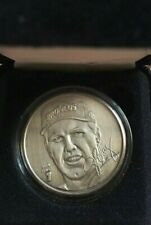 John Elway Serial #'d Brushed Nickel Highland Mint Medallion w/ COA and Case