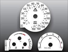 2000-2001 Saab 9-3 9-5 Auto Dash Instrument Cluster White Face Gauges