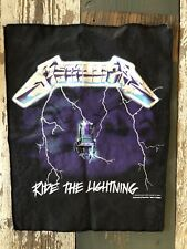 Vintage 1994 Metallica Ride The Lightning Giant Back Patch Made In England!