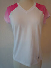 NWT Fila Pink White Small Tennis Golf Yoga Sports Top Shirt Color Fading