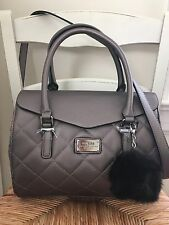 Guess Handbag Satchel Lovecat Taupe Fall Autumn Color NWT