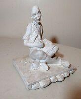 antique carved figural clothing fashion designer bisque pottery sculpture statue