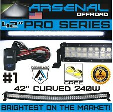 No.1 42 inch Curved 240W Pro Series CREE LED Light Bar 2017 Design Combo Beam