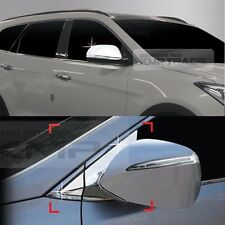 Chrome Side Mirror Cover Mirror Bracket Molding 8P for HYUNDAI 13-18 Santafe DM