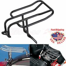Black Rear Luggage Rack Licence holder For Harley Softail FLSTC FLSTF Sportster