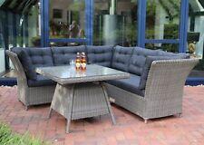 Destiny Loungegruppe Palma Vintage grau Lounge Sitzgruppe Sofaset Dininglounge