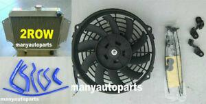 Alloy Radiator for SUZUKI SIERRA 1.0 1.3 SJ410/413 1981-1996 MT Fan Blue hoses
