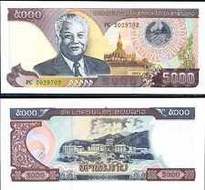 LAO LAOS 5,000 5000 KIP 2003 P 34 UNC