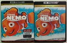 DISNEY PIXAR FINDING NEMO 4K ULTRA HD BLU RAY 3 DISC SET + SLIPCOVER SLEEVE BUY