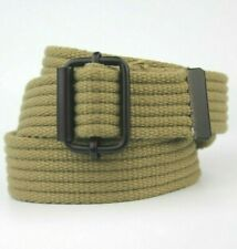 """Green Brown Army Military Style Canvas Textile Belt Fits 30""""-36"""""""